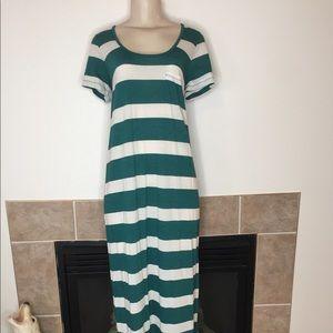 J. Crew Striped Scoop Neck T-shirt Maxi Dress Sz M